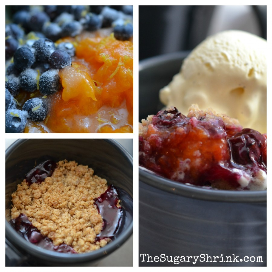 apricot blueberry fruit crumble insta