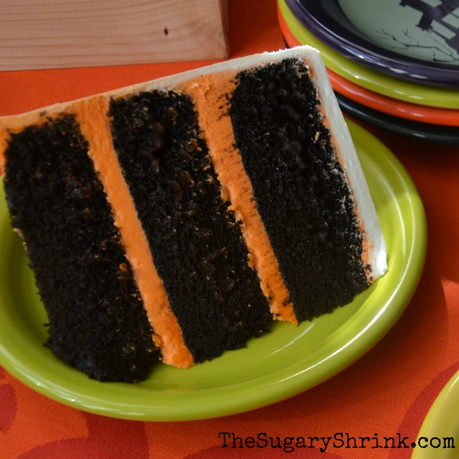 halloween cake choc slice insta