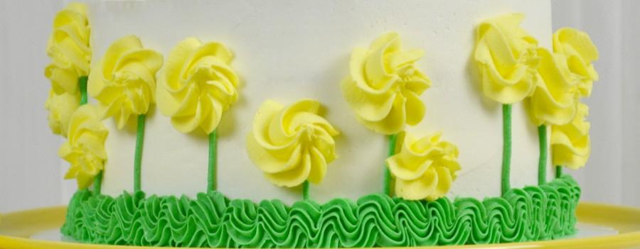 almond yellow rose cake 840