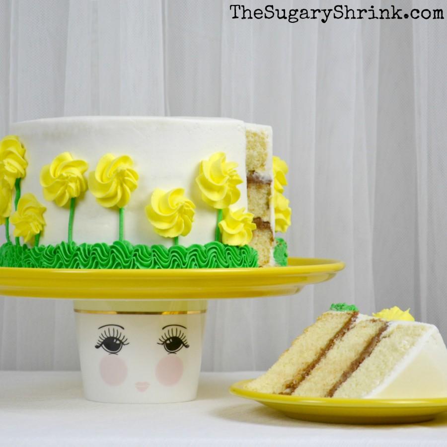 almond yellow rose cake 872 insta
