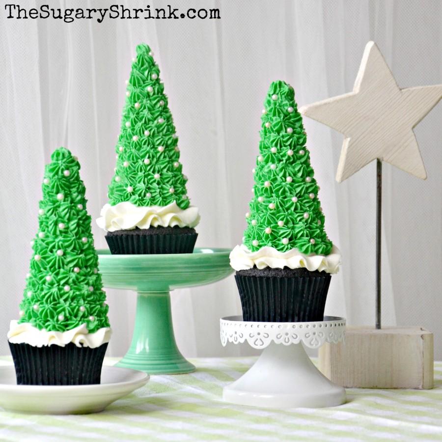 choc cupcakes xmas trees 386 insta