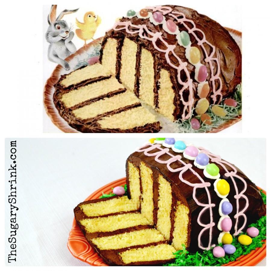 vintage easter egg cake pink insta