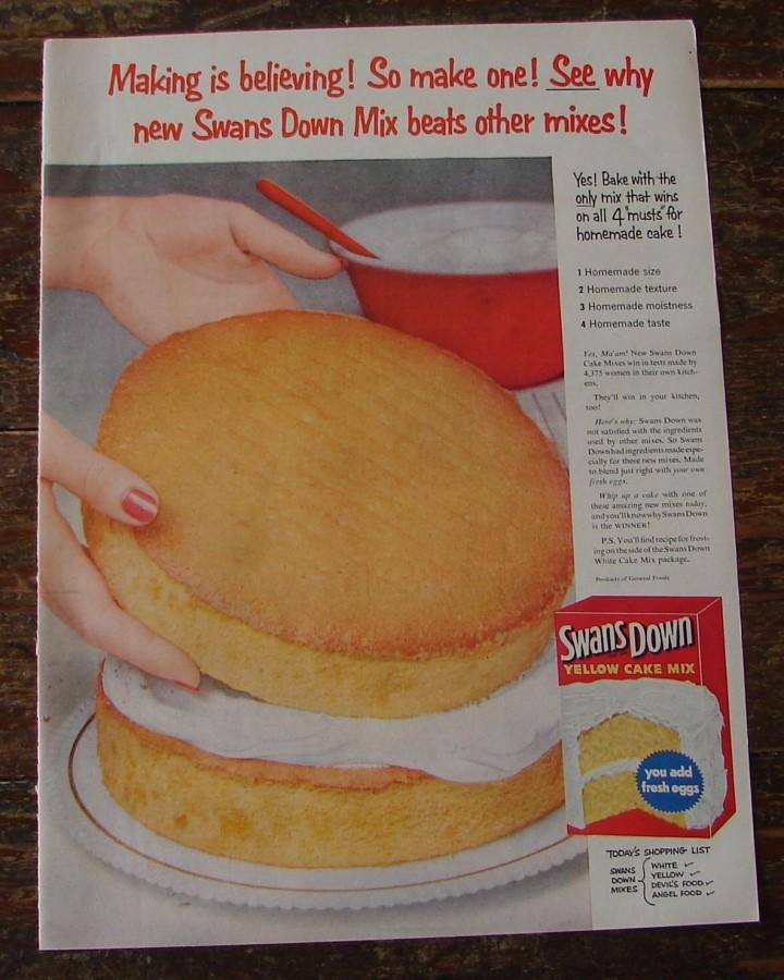 vintage cake building ad