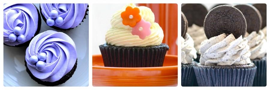 3 choc cupcakes