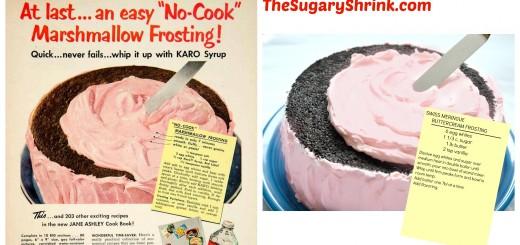 vintage cake ad choc pink tss