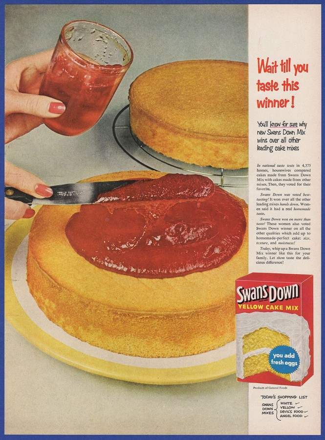 vintage cake ad jelly