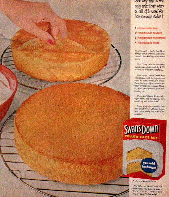 vintage ad cake parchment