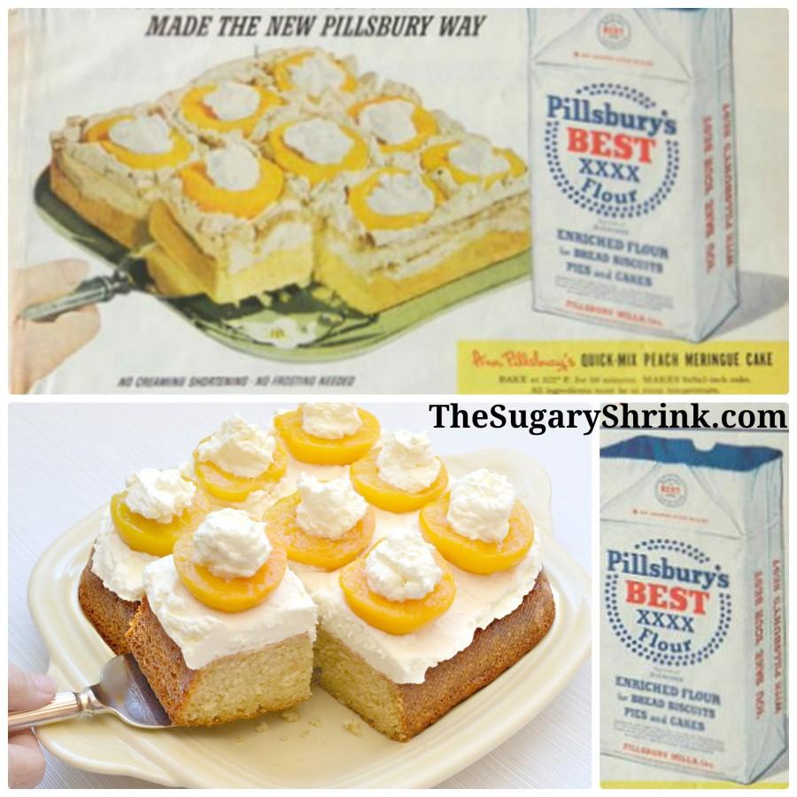 vintage ad cake peach insta