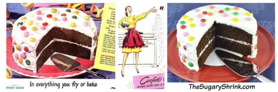vintage ad confetti cake tss