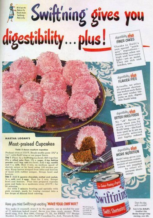 vintage ad cupcake pink