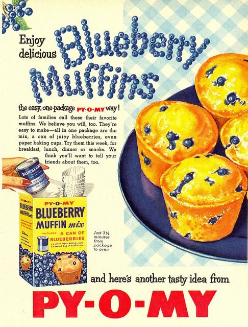 vintage ad muffin blueberry 2
